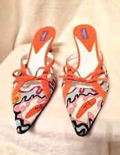 EMILIO PUCCI Shoes Heels Mules - 38  ORANGE YELLOW PINK