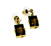 Bijou authentiques boucles d'oreilles Swarovski cristal ambré earrings