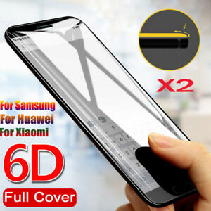 2 Pack 6D Tempered Glass Screen Flim Protect For Huawei P20 P30 Pro Lite Mate 20