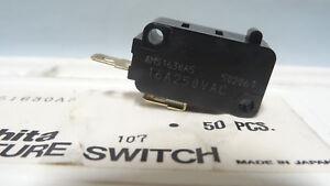 5 Pcs Matsushita Japan QV Micro Switch AM51630A5 50206T 250VAC 16A NOS/ NIB