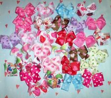 Dog Grooming Bows 30 Grosgrain Ribbon Valentine's Day Dog Bows Children's Bows