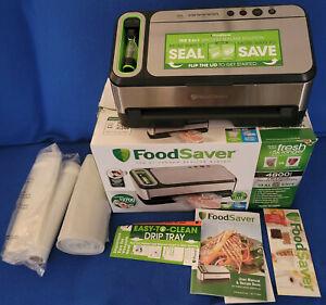 FoodSaver 2-in-1 Vacuum Sealing System Home Stainless 4800 Series + Bags