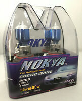 Vintage Nokya 9006 HB4 Arctic White Light 55W Halogen Headlight Bulb Pair 4100K