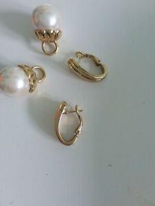 Pierre Lang Ohrringe Gold mit Perle Rarität