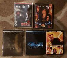 Bruce Willis Dvd lot 12 Monkeys/Sixth Sense/Unbreakable/Fifth Element/Surrogates