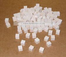 50 Würfel * HOLZ SPIELSTEINE Bastelmaterial * SPIELMATERIAL in weiß 8 mm * NEU