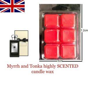 MYRRH AND TONKA Inspired Highly Scented Wax Melts Bar - Wax Bar 60g
