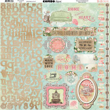 Bo Bunny SOIREE Collection 12 x 12 Cardstock Stickers Combo BOBUNNY  2016
