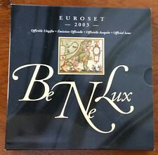 Benelux Set 2003 Bu * Nederland+Belgie+luxemburg 1 cent t/m 2 euro +penning