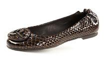TORY BURCH Reva Nutty Snake Print Ballet Flats Sz 5  $235 NEW