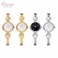 KIMIO Women's Fashion Lady Bracelet Stainless Steel Crystal Quartz Wrist Watch