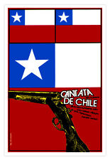 "Decor Graphic Design movie Poster for film""Cantata CHILE""Chilean flag.Political."