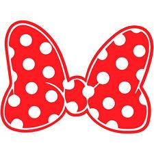 "Minnie Mouse Polka Dot Bow 3"" Disney Decal Sticker Vinyl Walt Land World"