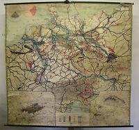 Schulwandkarte Wandkarte Deutschland Deutsches Reich v.1945 Bodenschätze 194x186