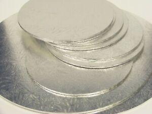 """Silver Cake Board 3mm  - Round / Square 4"""", 5"""", 6"""", 7"""", 8"""", 9"""", 10"""" 12"""", 13"""""""