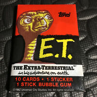 1982 TOPPS E.T. THE EXTRA-TERRESTRIAL NEW SEALED WAX PACK 10-CARDS,1-STICKER,GUM