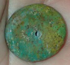 22mm Rare Antique Indo - Tibetan, Tibet Turquoise bead, #S2178