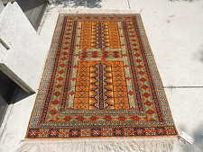 4x6ft. Authentic Turkoman Enzi Wool Rug