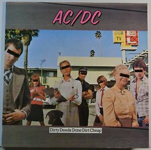 AC/DC Dirty Dees Done Dirt Cheap 33T LP 1976 france french pressing 50323