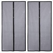 2 Magnetic Screen Door Anti Mosquito Magic Mesh Hands-Free Bug Curtain Patio @AL