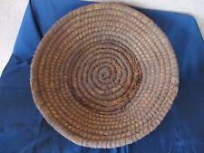 Ancien panier à pain en paille tressée
