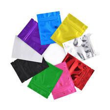 100pcs Aluminum Foil Resealable Zip Lock Bags Mylar Food Storage Pouches Package