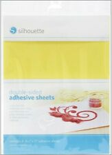 """Silhouette Double-sided Adhesive Sheets 8.5""""×11"""" Contains 8 Sheets"""