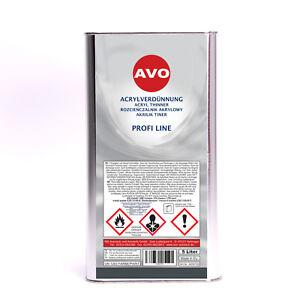 Acrylverdünnung 5 Liter 2K AVO für 2K Autolack Klarlack Decklack A050150