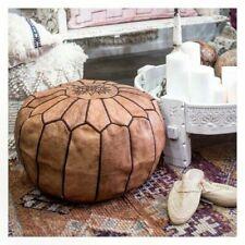 Moroccan Genuine Leather Boho Pouf Ottoman Footstool Pouffe morrocan pouf