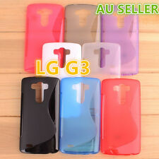 LG G3 S Curve Slim Soft Silicone Rubber Gel Back Cover Case