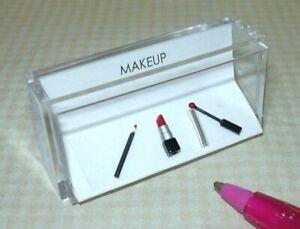 Miniature Amazing Makeup - Lip Liner, Lipstick, Lip Gloss (RED): DOLLHOUSE 1/12