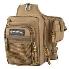 Fly Fishing Shoulder Strap Tackle Organizer Bag Pack Camping Hiking Cloth Sack