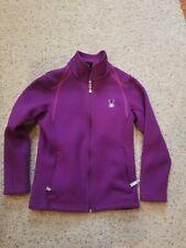 Spyder Core Sweater Waffle Purple Full Zipper Jacket Fleece Girls Youth Medium