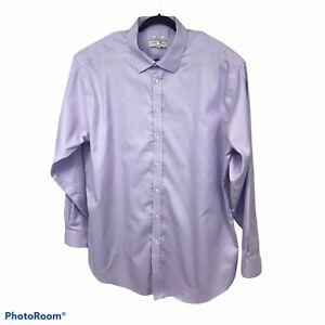 Joseph Abboud Mens Long Sleeve Button Down Shirt Lavender Big Tall 19 38/39 Tall