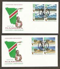 UN Vienna #114-115 Namibia (2) Artmaster B4FDCs
