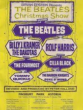 "Beatles / Cilla Black Finsbury Xmas Show 16"" x 12"" Photo Repro Concert Poster"