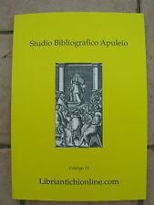 LIBRO CATALOGO BIBLIOGRAFICO ANTIQUARIATO LIBRARIO LIBRI ANTICHI BIBLIOFILIA