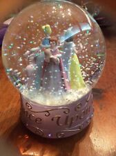 Disney Once Upon a Wintertime Snow Globe Belle Snow White Cinderella