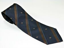 Men's BURBERRY LONDON Silk NECKTIE Tie  MADE IN ITALY BURBERRY'S EMBLEM STRIPES