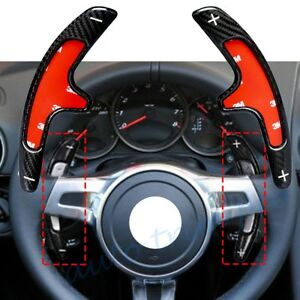 Carbon Fiber Steering Wheel Shifter Paddle Extension PDK For Porsche Cayenne 991