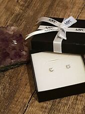 BEAUTIFUL NEW NATURAL DIAMOND 9CT WHITE GOLD STUD EARRINGS WITH VALUATION 💖💖