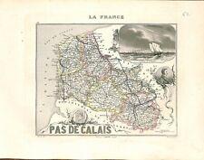 62 . Pas-de-Calais Pigault-Lebrun  MAP ATLAS 1851