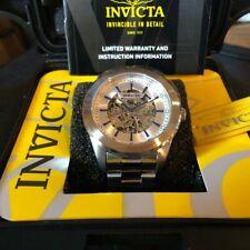 Invicta Silver Band/Case Skeleton 25758 Mechanical 45MM & DIVE CASE