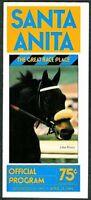 JOHN HENRY ON COVER 1983 SANTA ANITA PARK HORSE RACING PROGRAM! SAN FELIPE!