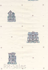 Home Love Sweet Hearts Antique Doll House Wall Decor Double Roll Wallpaper Paper