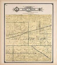 Vigo County Indiana family Genealogy history plat map 1907 Atlas Land Owner P125