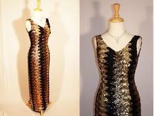 Ultimate Wiggle True Vintage  50's Multi Sequin Madison Ave Era Ball Gown M