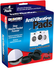 4X Rubber Anti Vibration Pads Washer Dryer Machines Reduce Noise Walking