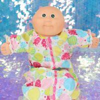 1980s Cabbage Patch Kids Bald Baby Doll CPK + Sleepsack Pajama Clothes BQ783
