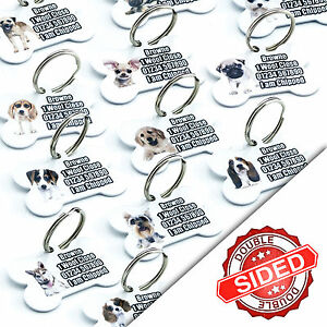 Pet Tags Breed Pet ID Tag Dog Name Identity Tags Disc For Collar Engraved FREE